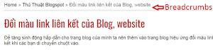 Cách tạo breadcumbs cho blogspot