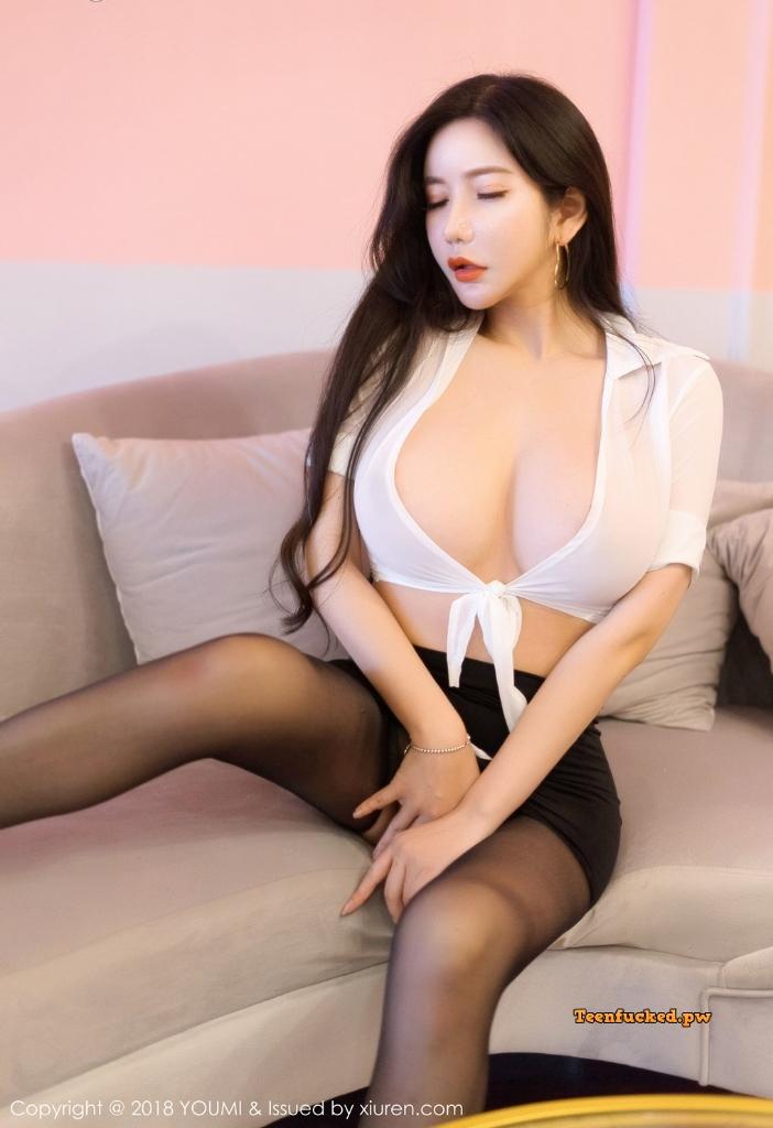 YouMi Vol.222 MrCong.com 022 wm - YouMi Vol.222: Người mẫu 心妍小公主 (45 ảnh)