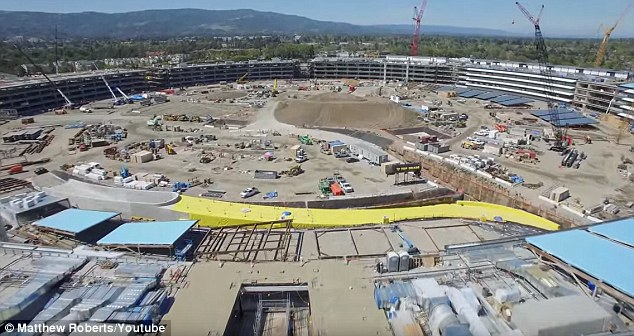 apple campus 2 construccion vista general
