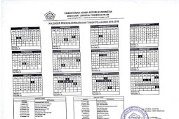 Kalender Pendidikan 2018/2019 Madrasah