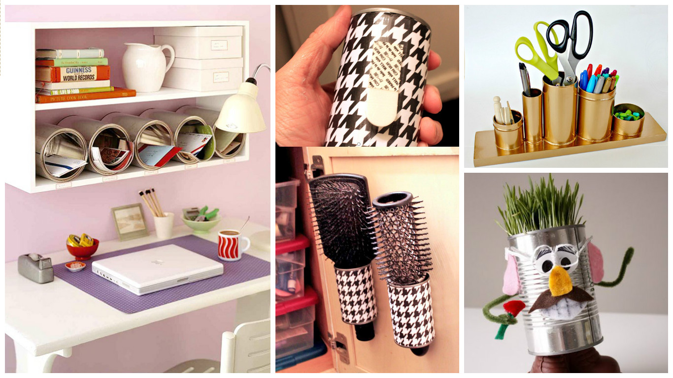 8 ideas creativas para reciclar latas y usarlos en el for Ideas de hogar