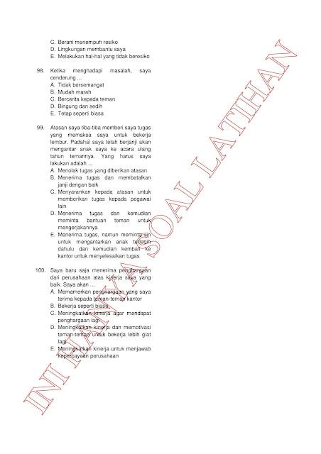 300+ Latihan Soal Tes CPNS SKD (TWK TIU TKP) 2021 + Kunci Jawaban (Bagian 3)
