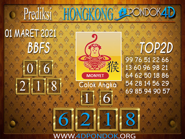 Prediksi Togel HONGKONG PONDOK4D 01 APRIL 2021