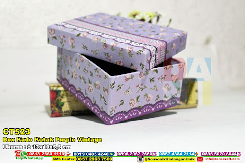 Box Kado Kotak Purple Vintage