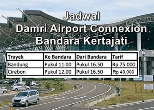 Jadwal DAMRI ke Kertajati dari Bandung dan Cirebon