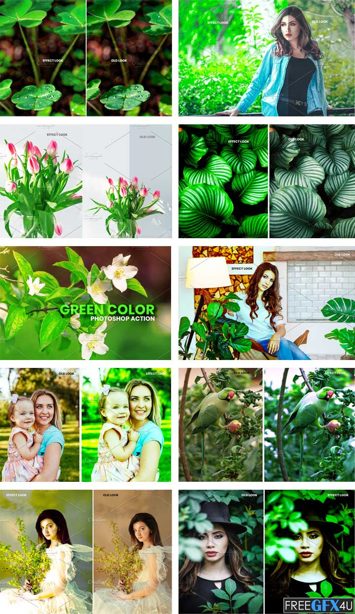 Green Color Photoshop Action
