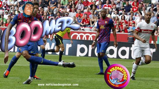 Humor: Thiago Alcántara en el partido FC Barcelona vs Internacional de Porto Alegre (Photoshop)