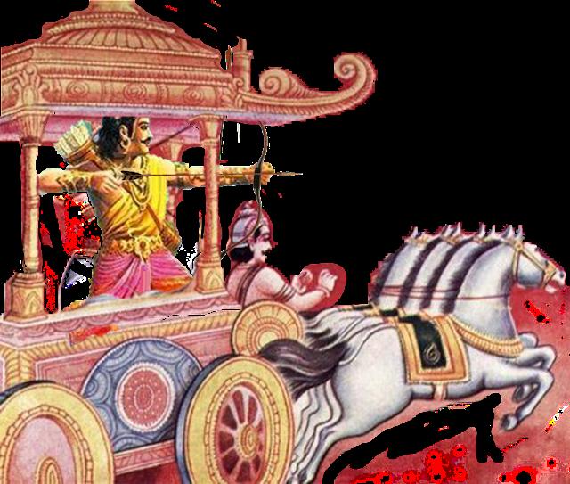 Arjuna Krishna Battle
