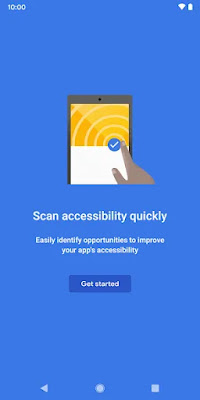 accessibility scanner interface