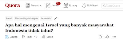 Israel yang banyak masyarakat Indonesia