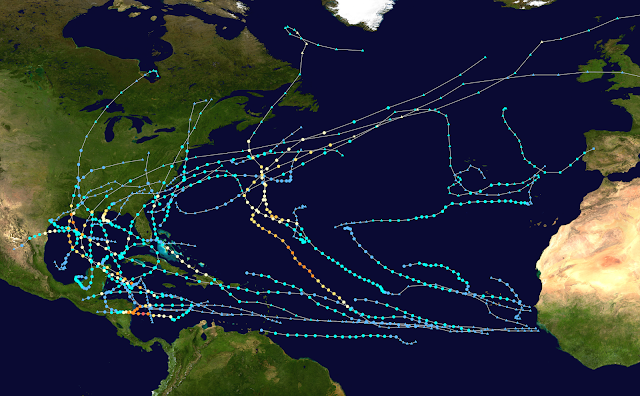 Atlantic Hurricanes Map 2020