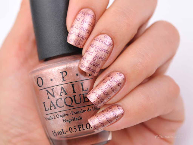OPI: Worth a Pretty Penne (Venice Collection), スタンピングネイル