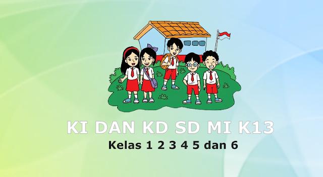 KI dan KD SD MI Kelas 1 2 3 4 5 dan 6 Kurikulum 13 Revisi Terbaru Tahun 2020-2021
