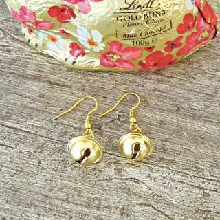 earring tutorial diy bell earrings jewellery jewelry lindt chocolate bunnies christmas