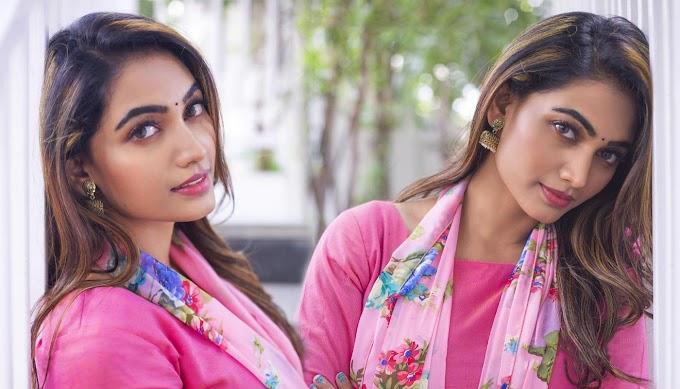 Spandana Palli In Pink Dress Hd Photos