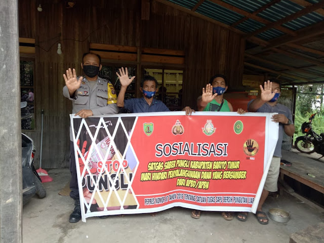 Polsek Dustim Sosialisasikan Saber Pungli
