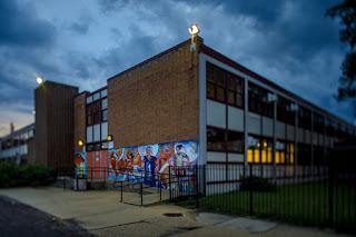 Bogan Computer Technical High School is shown on June 26, 2018. (Brian Cassella / Chicago Tribune)