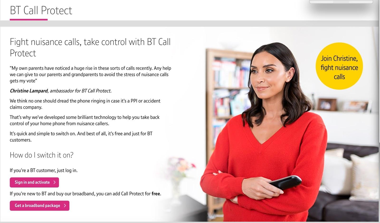 Jim\'s Loire: BT 6 – Nuisance calls 0? – BT launch BT Call Protect