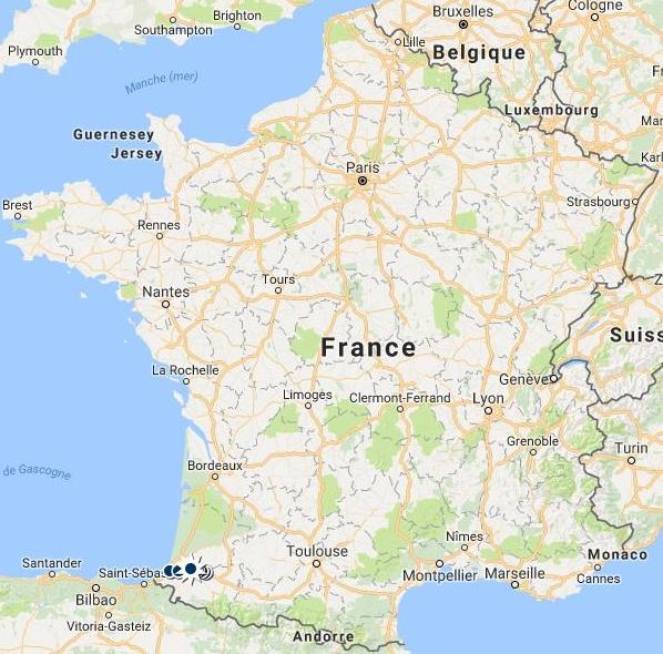 carte de france bayonne