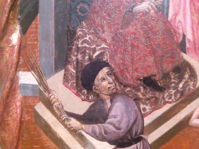 flagelacion azote latigo birching medieval tortura pintura gotica