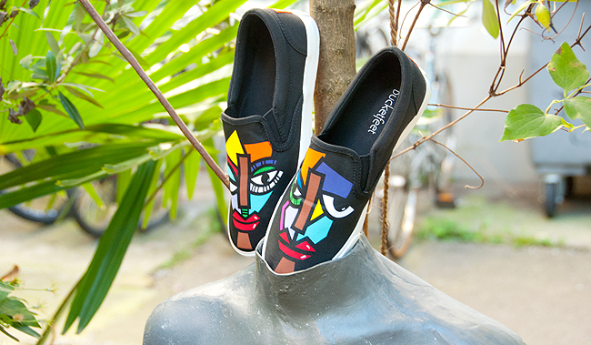 blogger, cool sneakers, artist designed sneakers