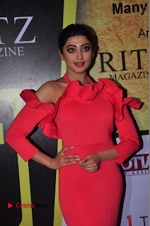 Actress praneetha Stills in Red Long Dress at South Scope Lifestyle Awards 2016 Red Carpet  0084.JPG