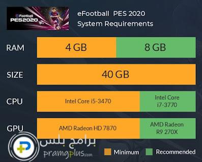 متطلبات تشغيل لعبة بيس 2021