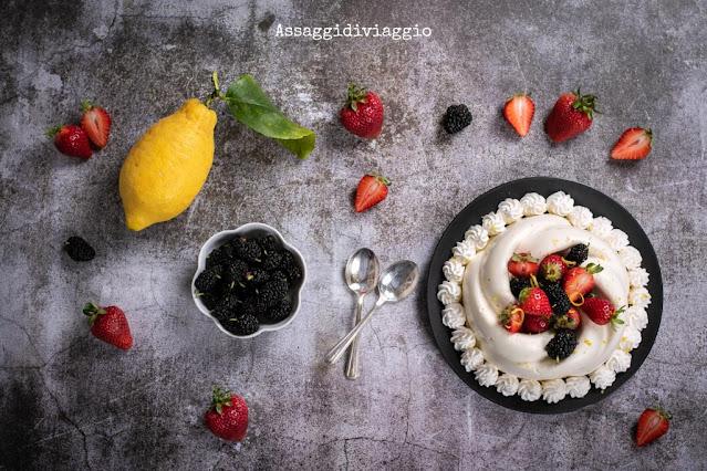 Torta mousse di limone e cioccolato bianco