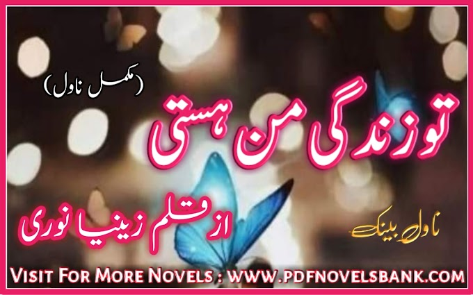 Tu Zindagi Man Hasti by Zeeniya Noori Novel Complete Pdf Download
