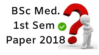 Mdu BSc (Medical) 1st Sem  Question Papers 2018
