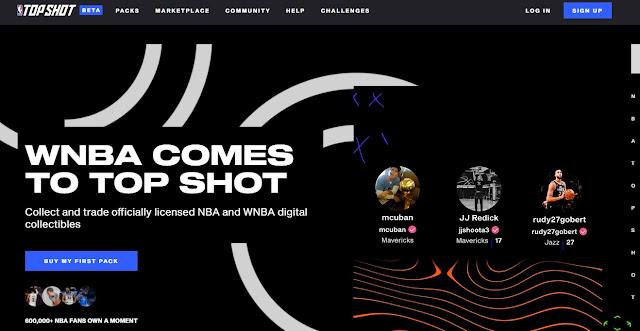 Screenshot Website NBA Top Shot
