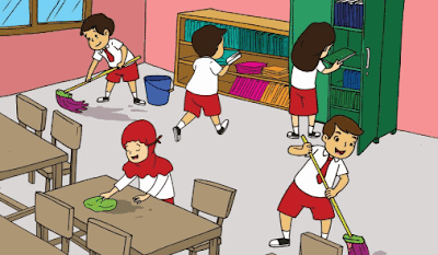 Gambar suasana budaya kerukunan piket kelas di sekolah www.simplenews.me