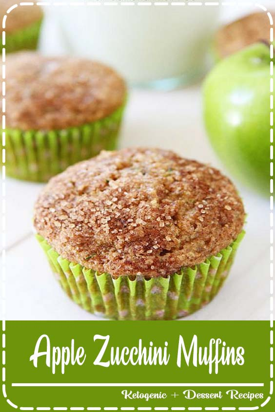You get your fruits and veggies in these delicious little muffins Apple Zucchini Muffins