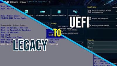 Cara Upgrade Bios dari Legacy ke UEFI