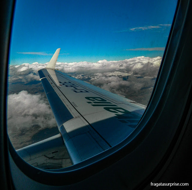 Avião de Nápoles a Catania, Sicília