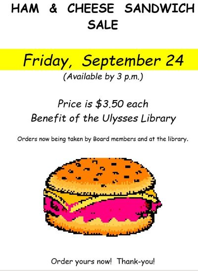 9-24 Ham & Cheese Sandwich Sale, Ulysses Library