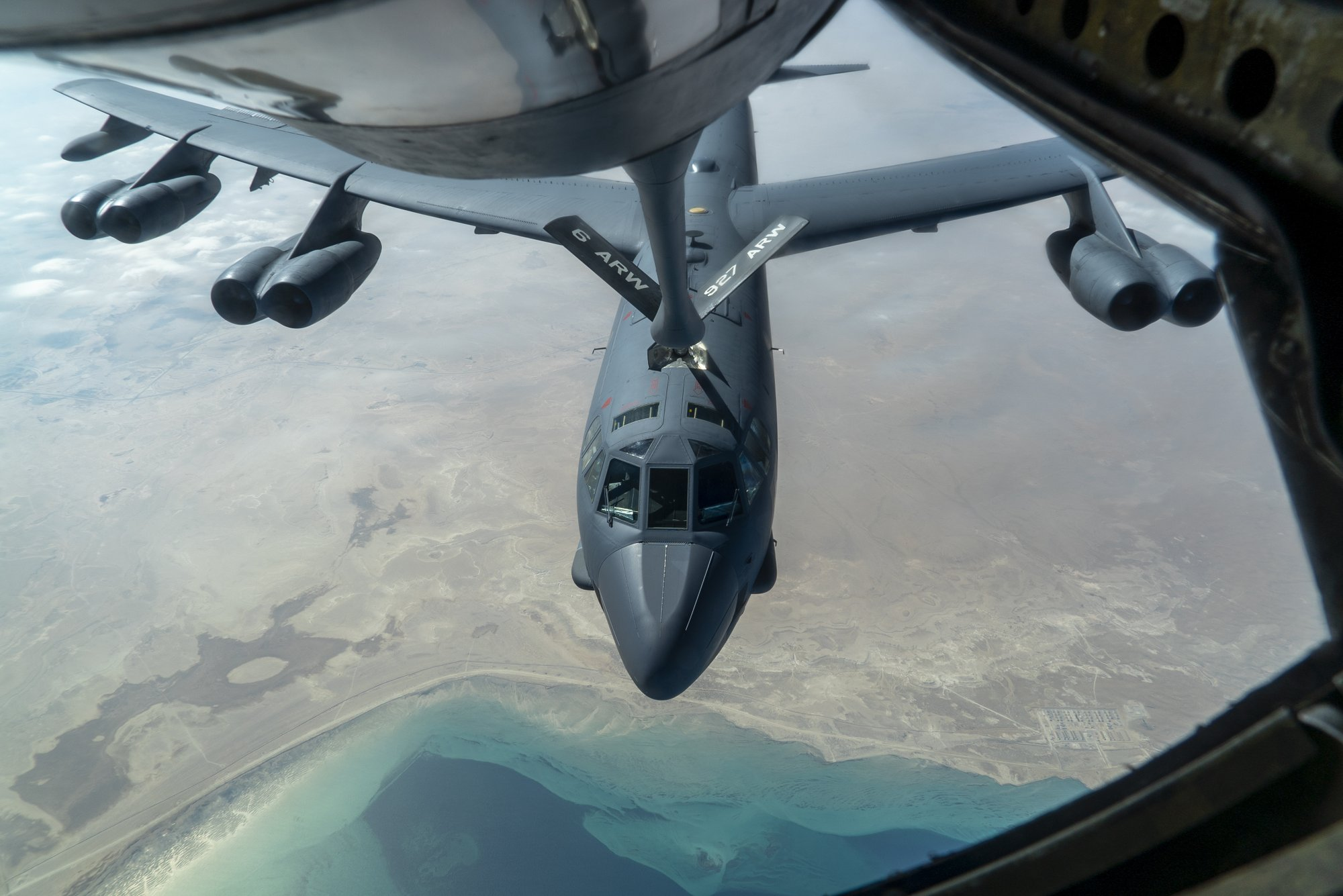 Two B-52 Stratofortress Bombers Fly Over The Persian Gulf To Warn Iran