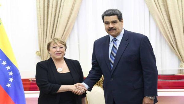 Presidente Nicolás Maduro destaca visita de Michelle Bachelet a Venezuela