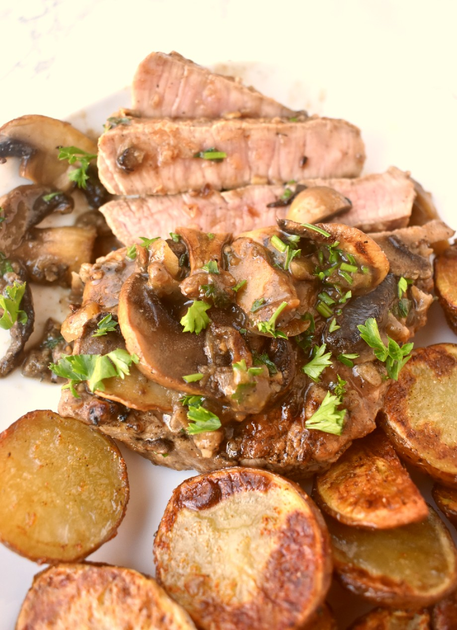 sliced steak marsala