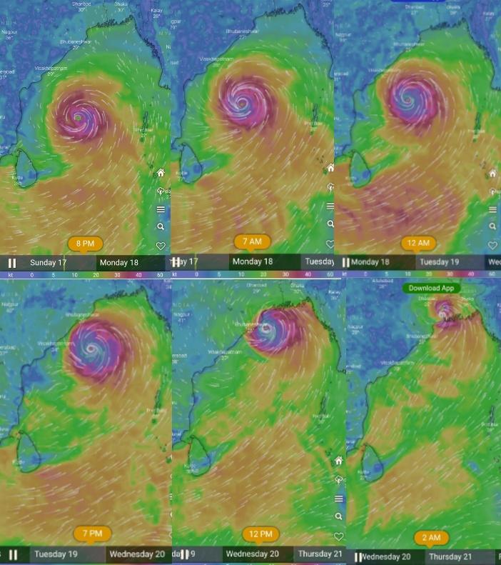 Amphan Cyclone tracking