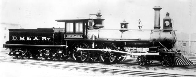 Image of train engine Chautauqua #4, originally posted by William Bottorff.