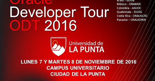 Oracle Developer Tour 2016 Argentina - Anticipadas Gratuitas ya disponibles, asegura tu lugar!