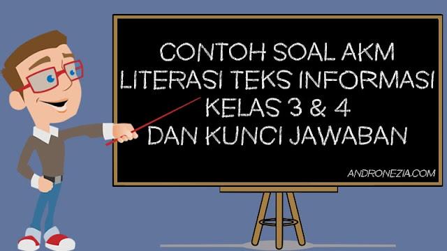 Contoh Soal AKM Literasi Teks Informasi Kelas 3 & 4 dan Kunci Jawaban