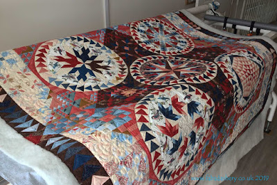 'Aves Quilt' made by Barbara Gillespie,  APQS Longarm quilted by Frances Meredith, Fabadashery Longarm Quilting