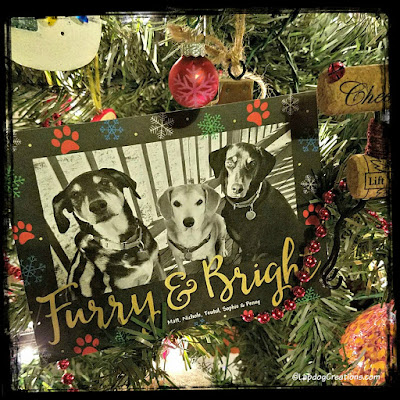 rescue dogs mixed breed christmas tree card