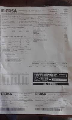 Resultado de imagen para facturacion desmedida de edersa en el bolson