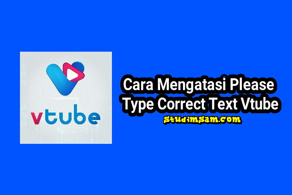 please type correct text vtube