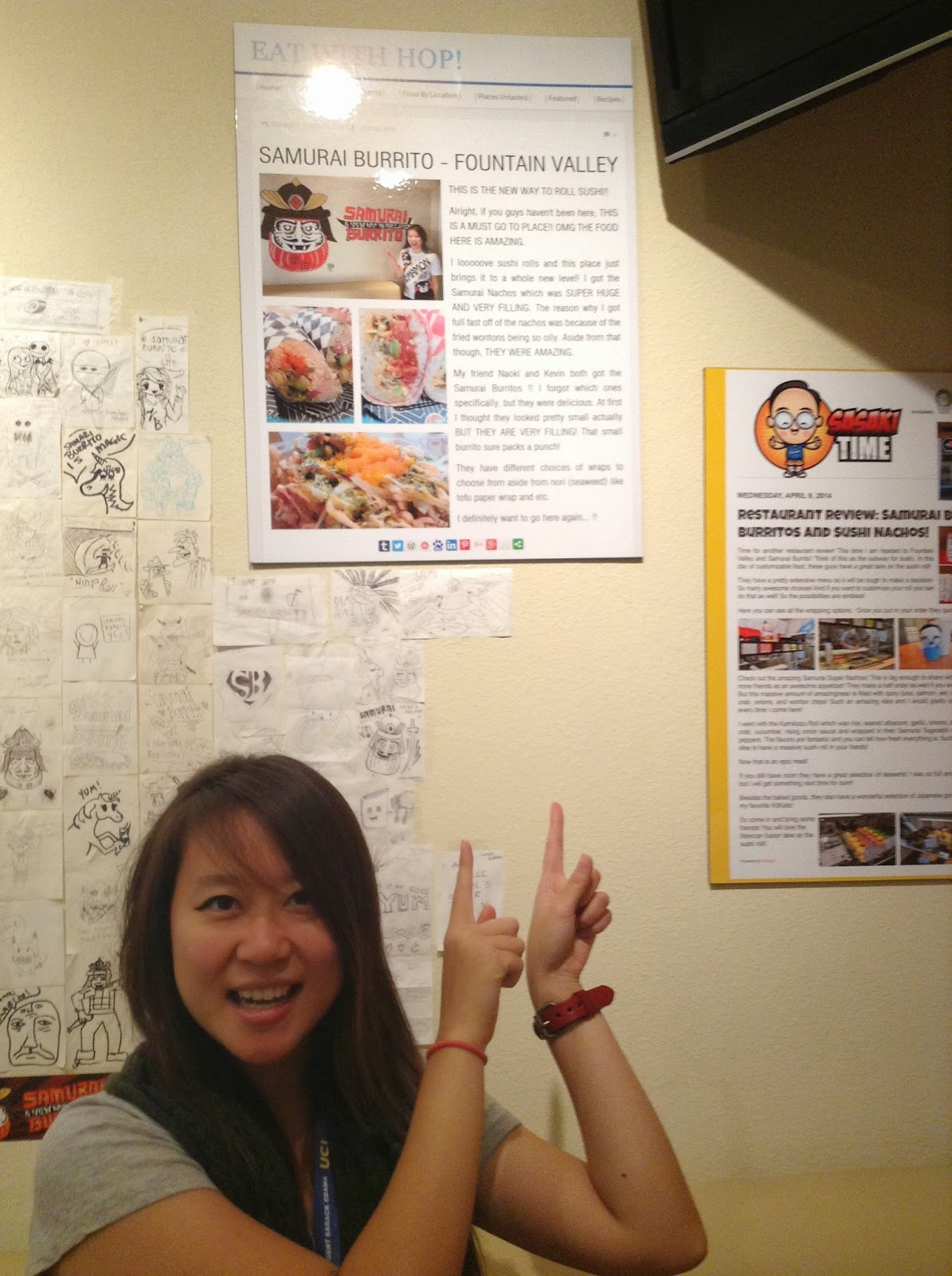 I MADE IT ON SAMURAI BURRITO'S WALL!