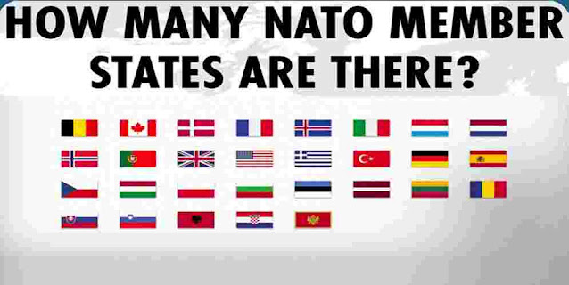 How many countries are a part of NATO?