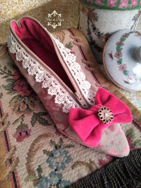 zapato-neceser-estuche-tela-flor-de-diys